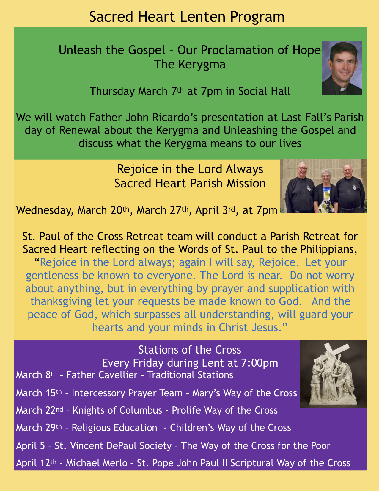 Sacred Heart - Lenten Program