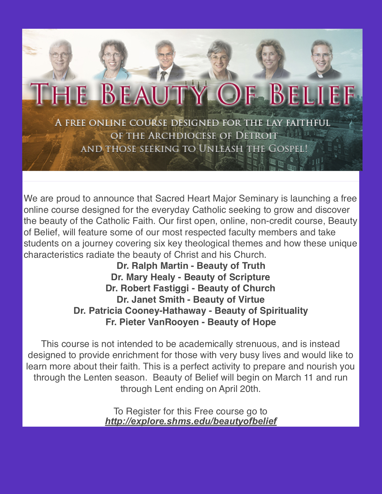 The Beauty Of Belief Program