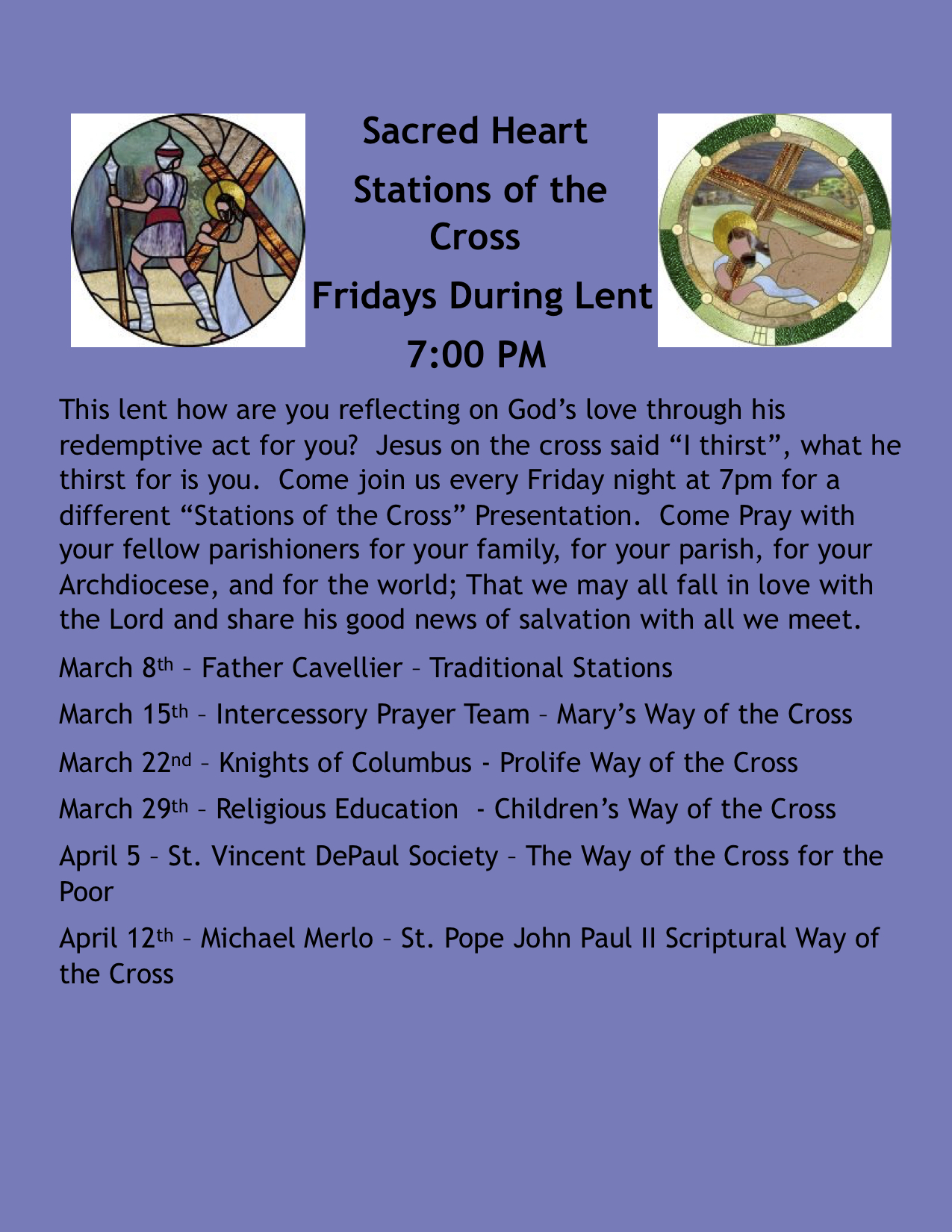 Sacred Heart - Stations of the Cross