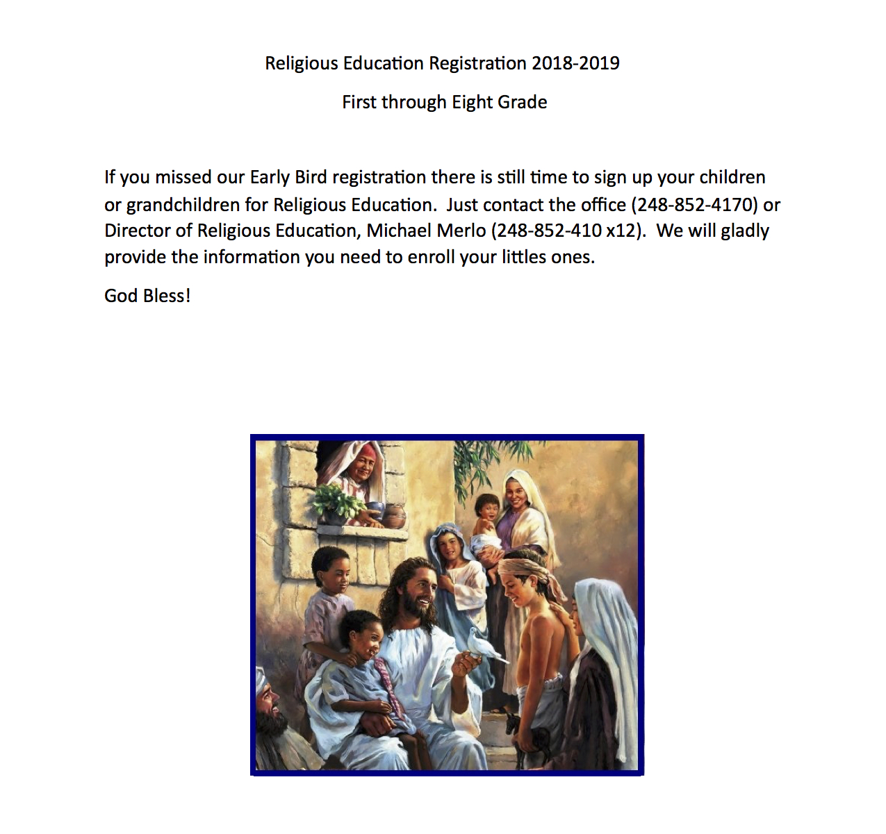 Religious Ed SignUp